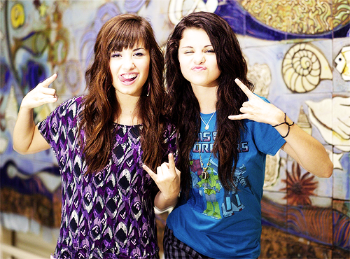 Me and Zanzoon as Selena and Demi im selly and shes Demi
