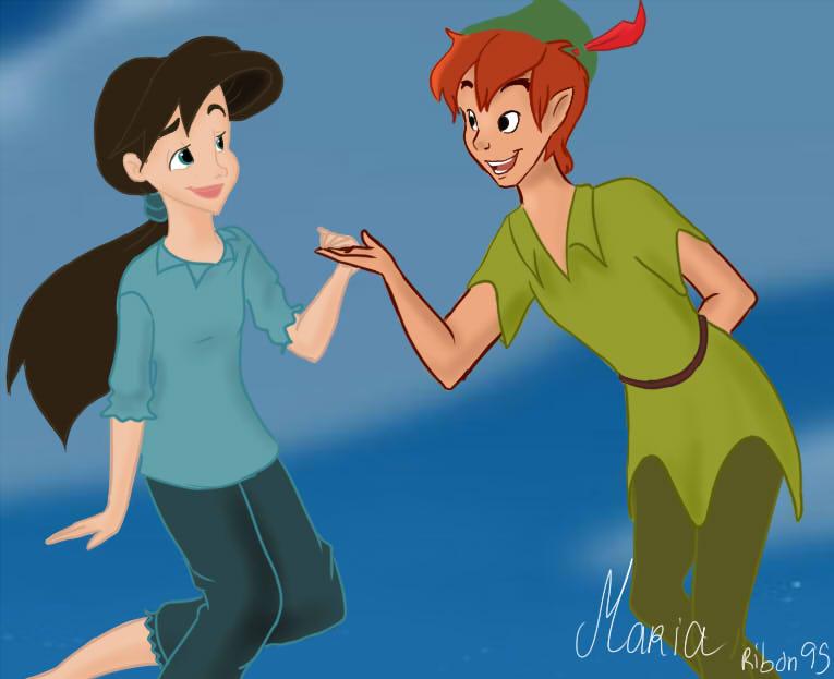Peter pan and ariel fan art