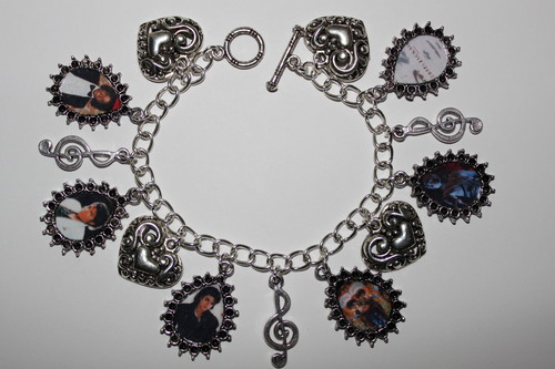 Michael Jackson Album Covers Charm Bracelet