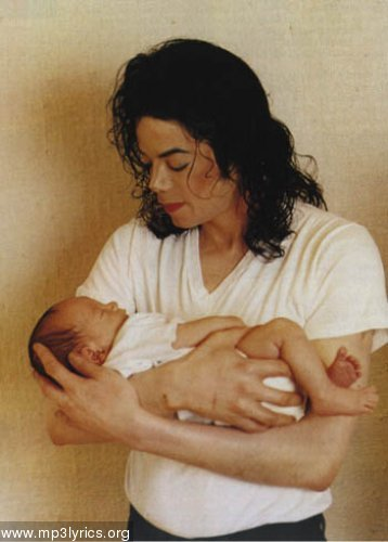 Michael Jackson with his Baby Prince