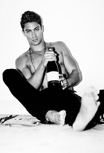 Model Jamie Hanson's Shirtless After Party