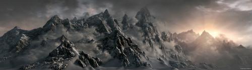 Mountains of Skyrim- Concept Art