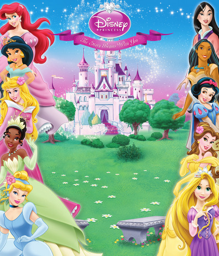 Disney Princess karatasi la kupamba ukuta entitled New Disney Princess Background