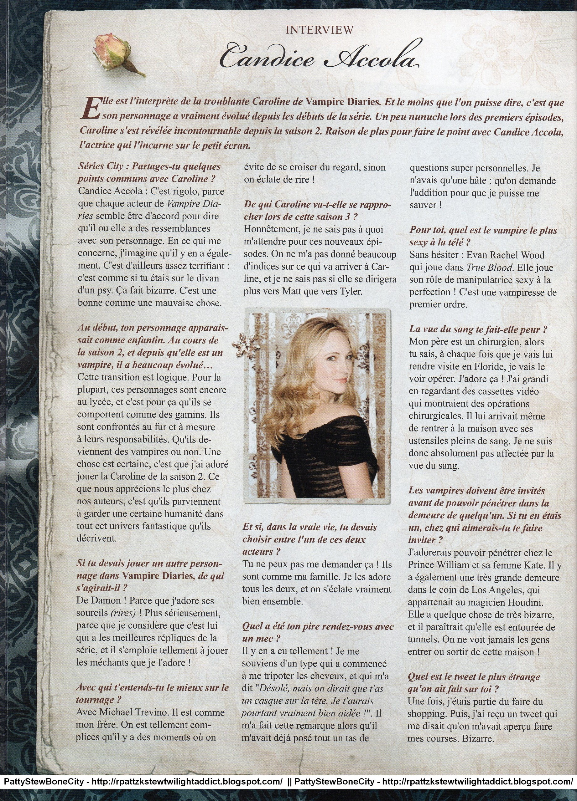 """New/Old scans of Candice in """"Séries City"""" magazine"""