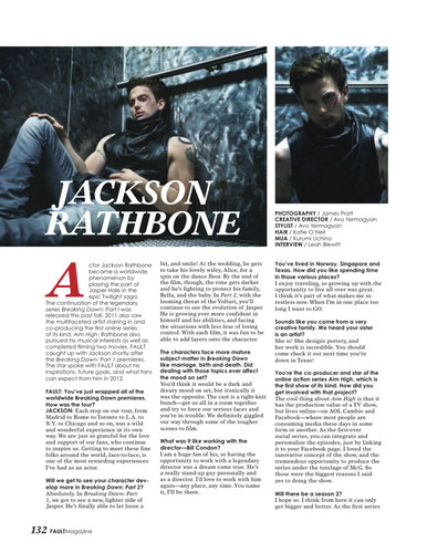 New scans of Jackson Rathbone in Fault Magazine!