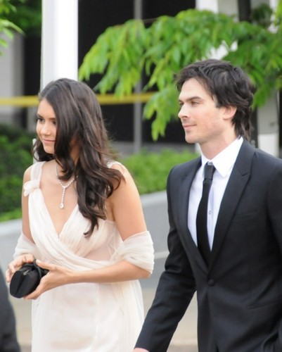The Vampire Diaries Couples 壁纸 with a business suit, a well dressed person, and a suit entitled Nian