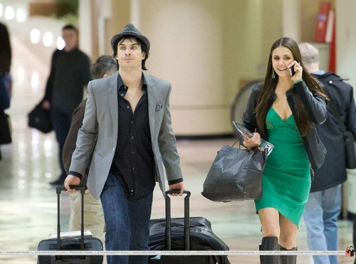 Nina and Ian at the aiport after PCAs