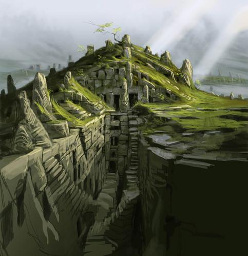 Nordic Barrow Ruin Exterior- Concept Art