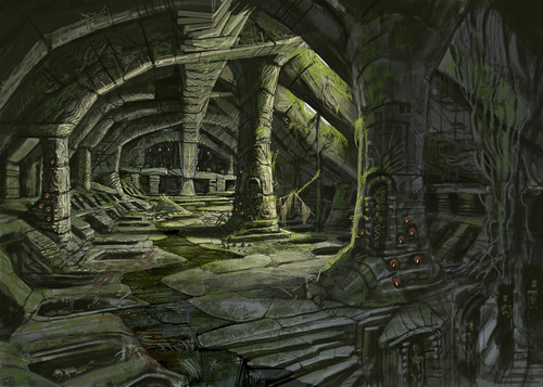 Nordic Barrow Ruin Interior- Concept Art