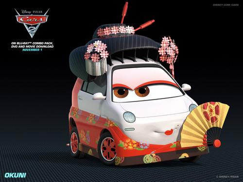 Disney Pixar Cars 2 wallpaper entitled Okuni