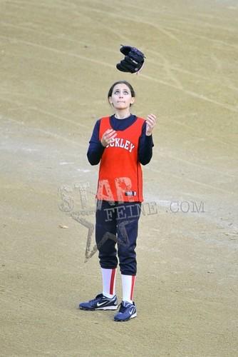 Paris playing softball 1/11/2012.