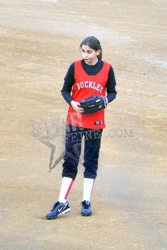 Paris playing softball 1/11/2012.