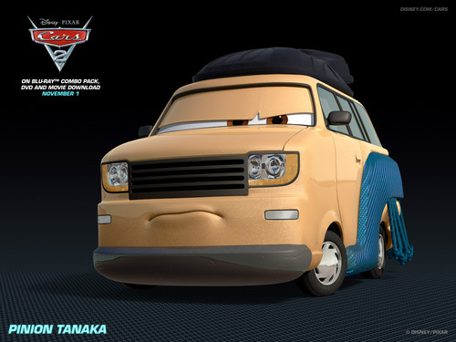 Disney Pixar Cars 2 wallpaper possibly containing a sedan, a minicar, and a compact entitled Pinion Tanaka