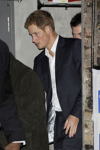 Prince Harry is spotted leaving the Arts Club  - prince-william Photo