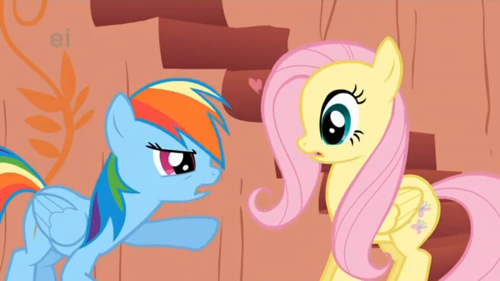 Rainbow Dash and Fluttershy - my-little-pony-friendship-is-magic Screencap