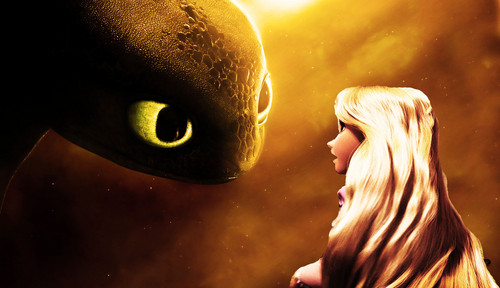 Rapunzel and Toothless