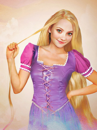 Real life drawing of Rapunzel