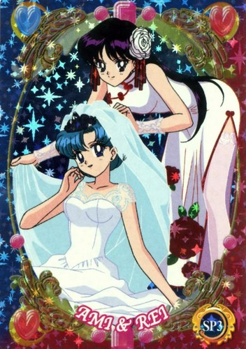 Sailor Mercury wallpaper probably containing animê called Rei and Ami
