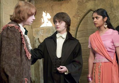 Ron with Harry and Padma