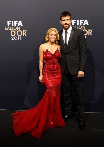 "Shakira & Gerard Pique - ""FIFA Ballon d'Or 2011"" - (January 9, 2012)"