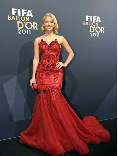 "Shakira - ""FIFA Ballon d'Or 2011"" - (January 9, 2012) - shakira Photo"