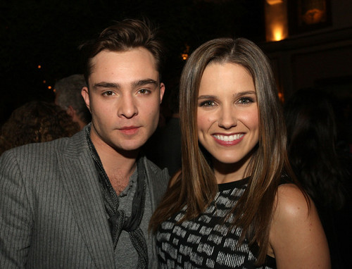 Sophia and Ed Westwick at TCA event 1/12/12