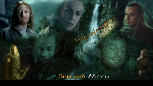 반지의 제왕 바탕화면 possibly with 아니메 called Sun and Moon - Haldir/Faramir