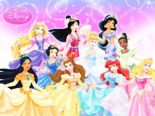 Disney Princess karatasi la kupamba ukuta called Ten Official Disney Princesses