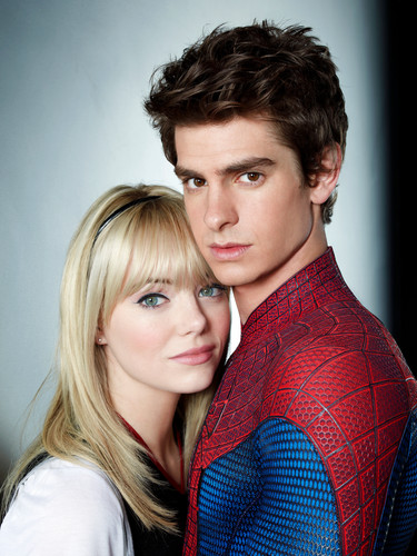 Andrew garfield and Emma Stone wallpaper probably with a portrait called The Amazing Spider-Man
