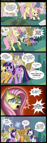 The Mane 6 Read cupcakes