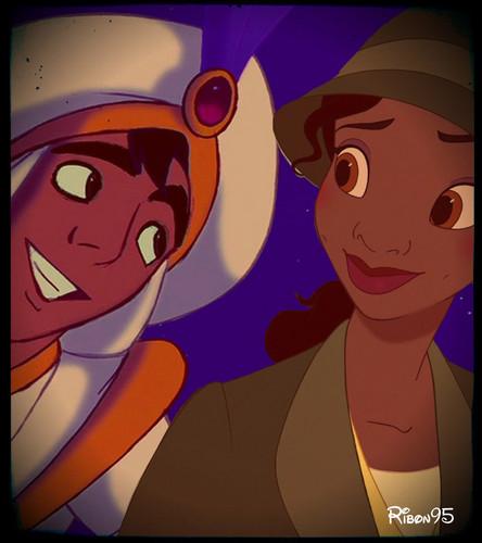 Tiana and अलादीन