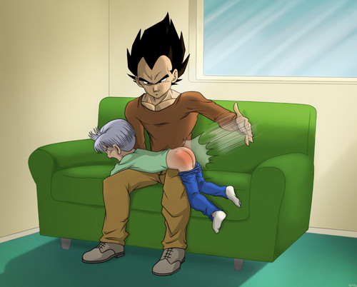 Trunks Gets Spanked :O - dragon-ball-z Fan Art