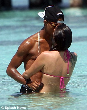 Tulisa and Fazer on a New anno holiday in the Maldives