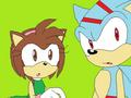 Victoria the hedgehog as me and Max the hedgehog my bf
