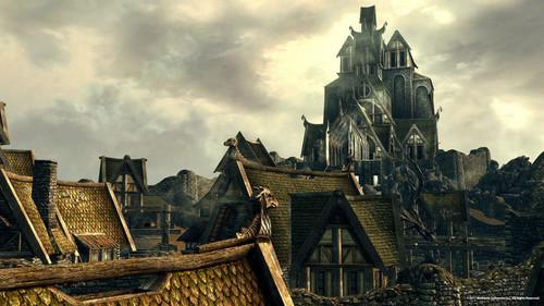 Elder Scrolls V : Skyrim karatasi la kupamba ukuta titled Whiterun