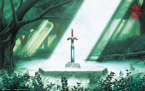 The Legend of Zelda wallpaper probably with a cross entitled Zelda 25th Anniversary