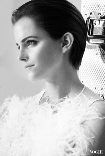 behind-the-scene picture of Emma Watson for the new Lancôme campaign 相思, blanc, 布兰科 Expert