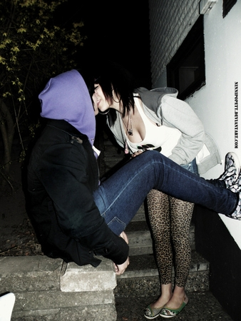 Emo Love images emo kiss wallpaper and background photos