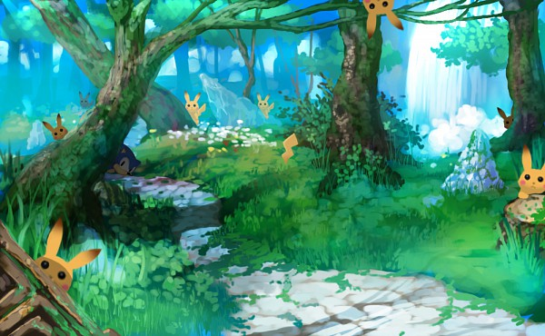 Pikachu and sonic images forest wallpaper and background photos pikachu and sonic images forest wallpaper and background photos voltagebd Gallery