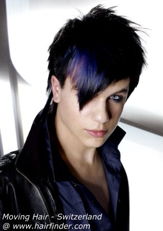 hot emo hairstyle