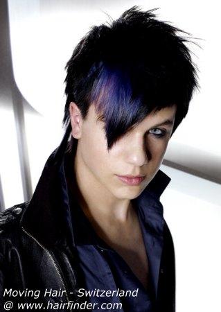 hot ईमो hairstyle