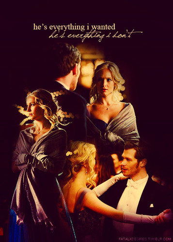 The Vampire Diaries Couples wallpaper probably containing a concert and anime called klaus & caroline♥