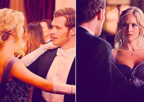 The Vampire Diaries Couples 壁纸 probably containing a bridesmaid and a portrait called klaus & caroline♥