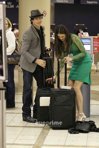 más Ian/Nina airport pics. ♥