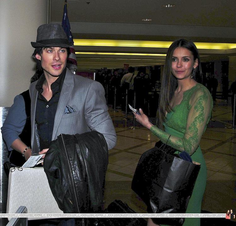 更多 Ian/Nina airport pics. ♥