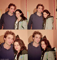 new/old photo of Rob and Kristen
