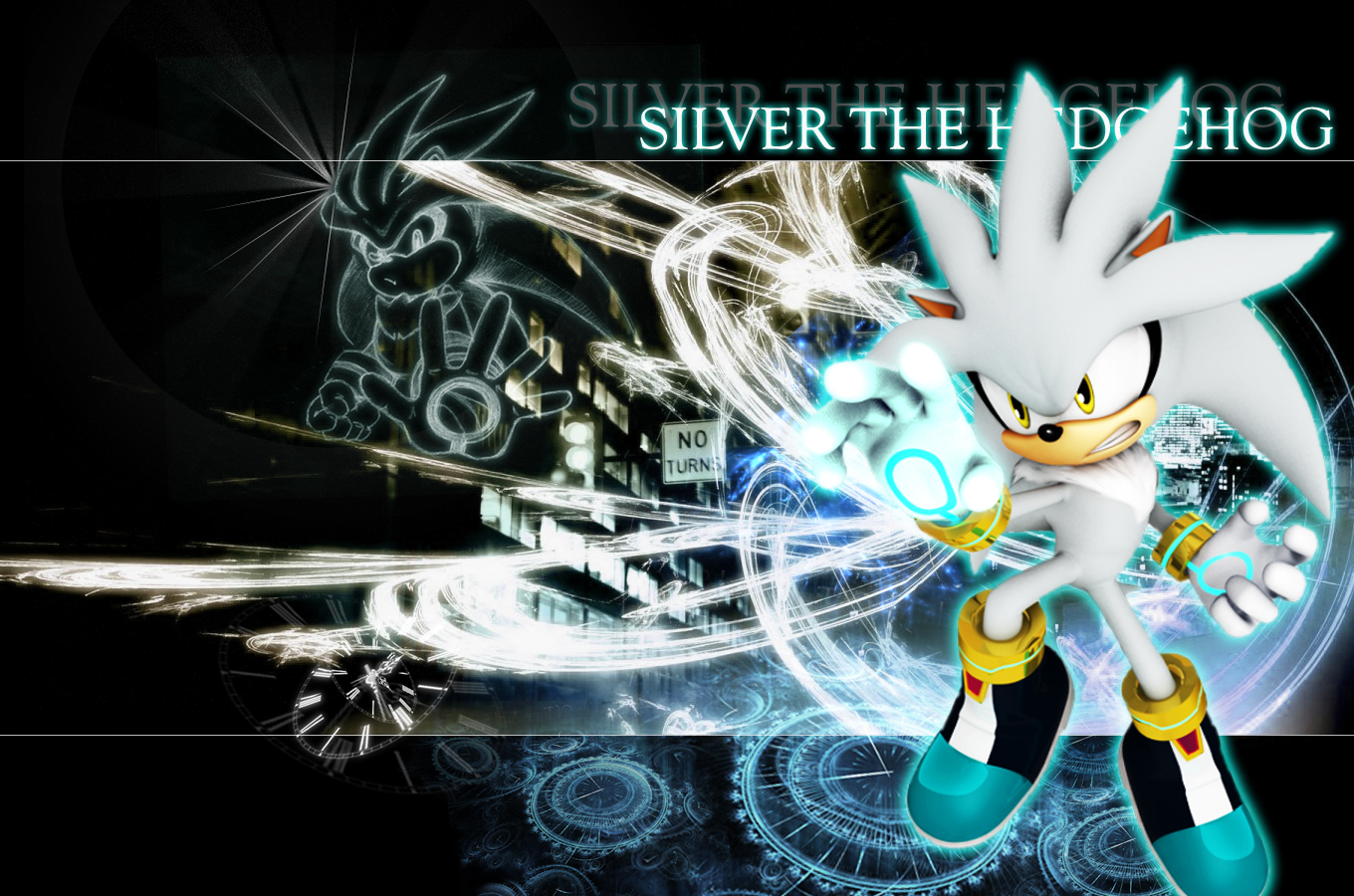Silver the Hedgehog silver wallpaper