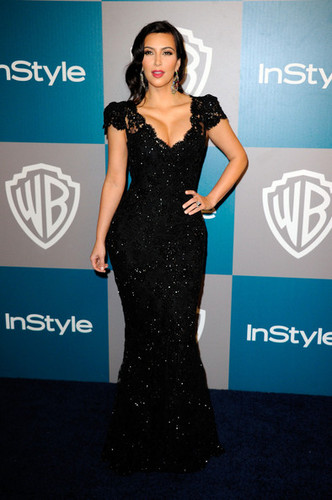 13th Annual Warner Bros. And InStyle Golden Globe Awards After Party - kim-kardashian Photo