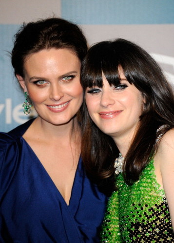 Emily Deschanel wallpaper probably containing a portrait called 69th Annual Golden Globe Awards - Instyle After Party [January 15, 2012]