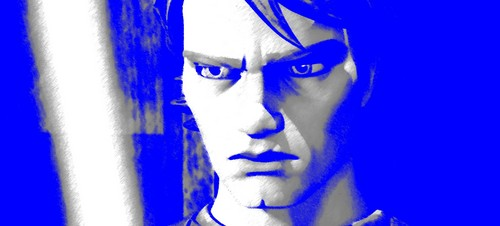Clone wars Anakin skywalker kertas dinding called Anakin - blue tint